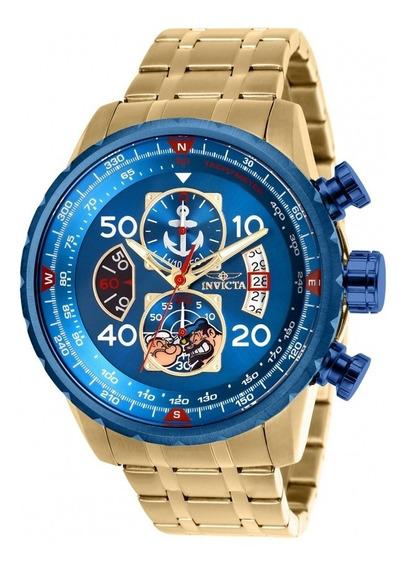 Precioso Reloj Invicta Aviador 25153 Popeye Edit. Azul 19173