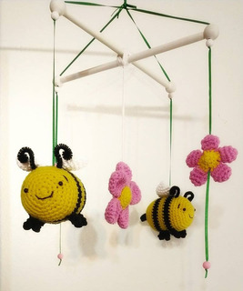 Móvil Abejas Crochet - Tienda Online Nariz De Azúcar