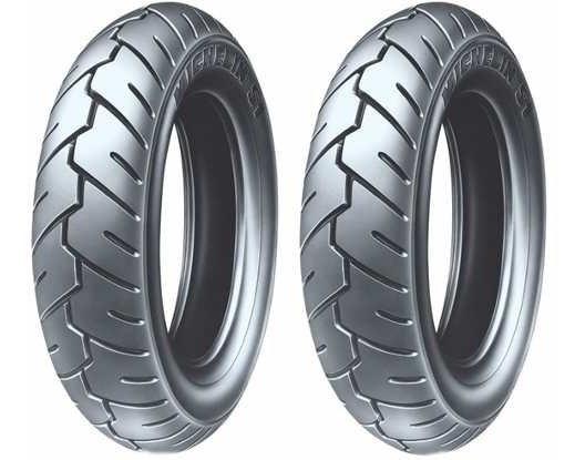 Par De Pneu 350-10 Suzuki Burgman 125 Michelin Modelo S1 Ss