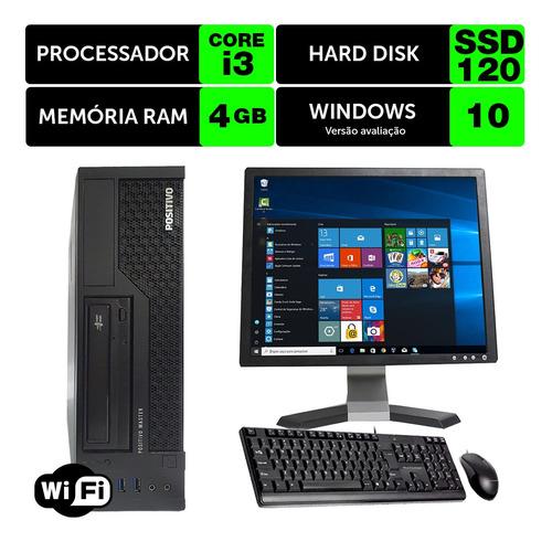Desktop Barato Positivo Master Int I3 4g 4gb Ssd120 Mon17q