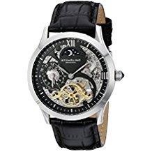 Reloj Automatico Stuhrling Esqueleto Original Banda De Cuero