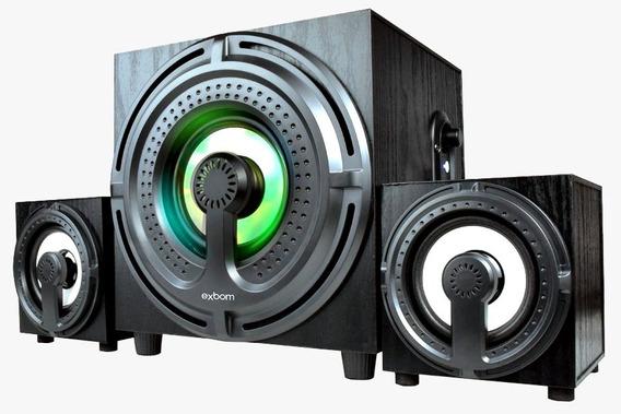 Caixa De Som Bluetooth 11w Rms Cs-401bt Exbom
