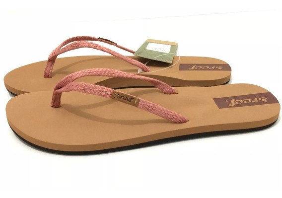 Sandalias Reef, Mod. Slim Ginger, Colores Blush, Blk Y Gsl.