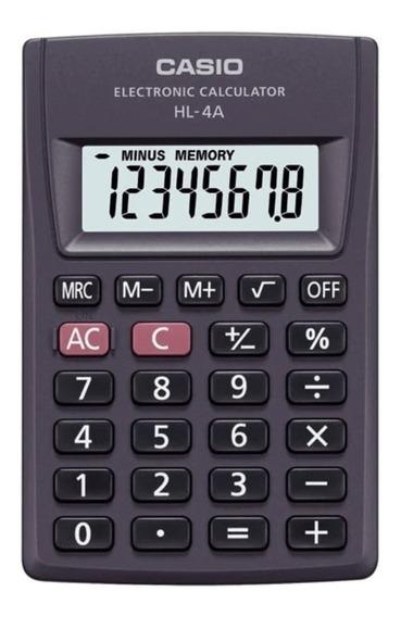 Calculadora De Bolso Casio Hl-4a 8 Dígitos Portátil Original