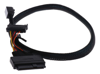 12g Mini Sas Hd Sff-8643 A U.2 Cable Sff-8639 Con Poder Sata