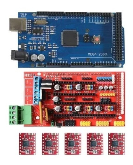 Kit Ramps 1.4 + 5 X A4988 + Mega 2560 Impressora 3d Cnc