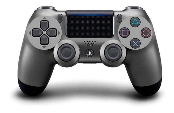 Controle Sem Fio Dualshock 4 Sony Para Ps4 Preto Metálico