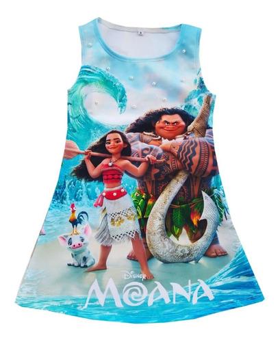 Imagen 1 de 6 de Vestido Para Niña Moana - Ig