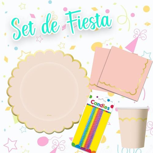 Imagen 1 de 4 de Set O Kit De Fiesta Para Cualquier Ocasión Rosa