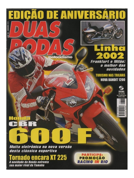 Duas Rodas N°313 Honda Cbr 600f Xr 250 Tornado Yamaha Xt 225