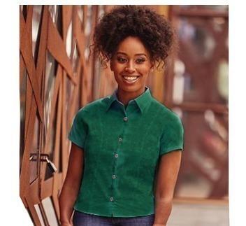 Camisa Verde Musgo Talla S / 8-vrds