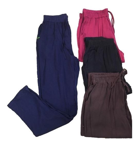 Calças Feminina Soltinha Viscose Confortável Promoção Kit 2