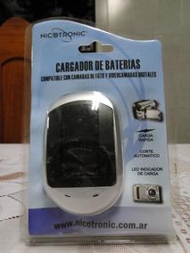 Carregador Baterias Nicotronic Para Câmeras E Celular