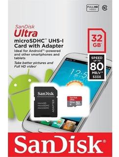 Cartão De Memoria Microsd Classe 10 32gb Original Sandisk