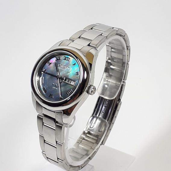 Relógio Automático Feminino Orient 559ss009 Cor Cromado