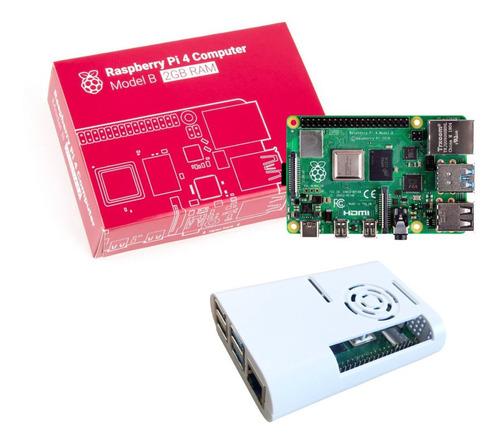Imagem 1 de 7 de Raspberry Pi 4 Model B 2gb Com Case - Nf