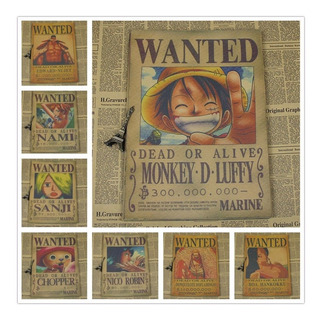 Pósters Wanted , One Piece.