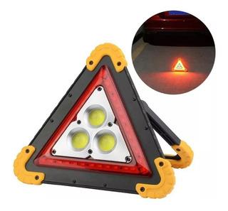 Triangulo Led Carretera Luz Animada +reflector +cargador Mnr