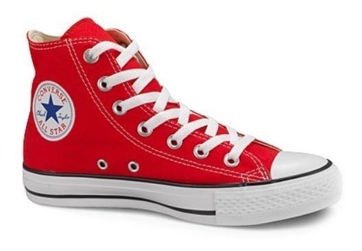 Tenis Converse Rojo Bota Lona 100% Original 3 Al 9 Mex