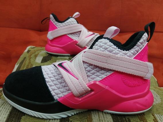 Nike Lebron Soldier 12 Espuma Rosa.