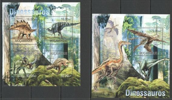 2013 Prehistoria- Dinosaurios - Mozambique Mnh