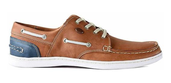 Náutico Zapato Hombre Cuero Briganti Goma Confort - Hcna1296