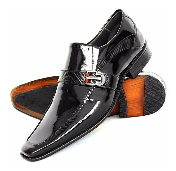Sapato Social Com Cadarço Bigioni Preto Solado Couro