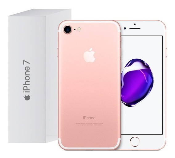 Celular iPhone 7 32gb Original Rosa Caja Reacondicionado