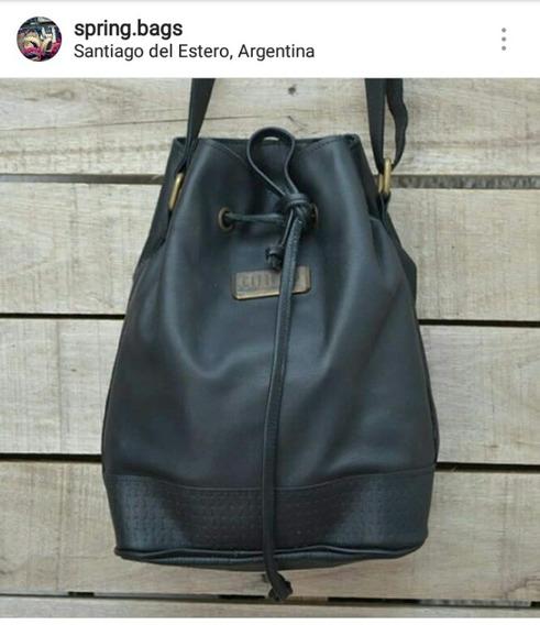 Cartera Negra De Cuero. Spring Bags Marroquineria