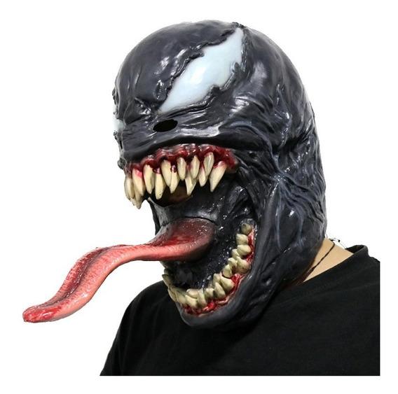 Mascara De Venom Marvel Spider-man Latex Disfraz Nuevo