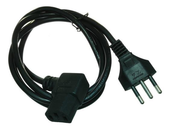 3*cabo De Força Para Computador Tripolar 1,5m Conector 90°