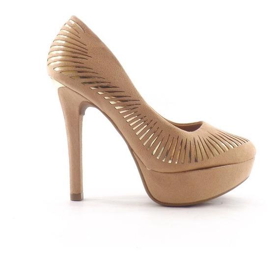 Zapato Vizzano Stiletto Taco Alto Calado Vestir Dama Mujer