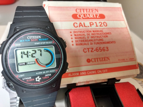 Citizen P120 Football Com Manual - Raro