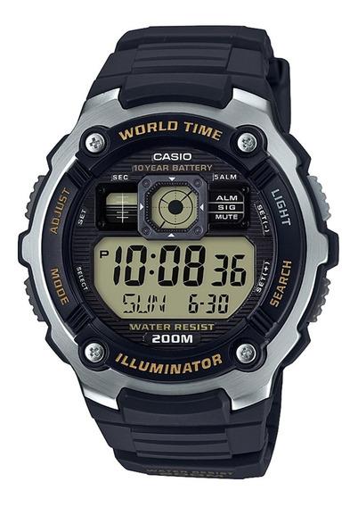 Reloj Casio Ae-2000w-9avcf H. Mundial, 5 Alarmas, Snorkel