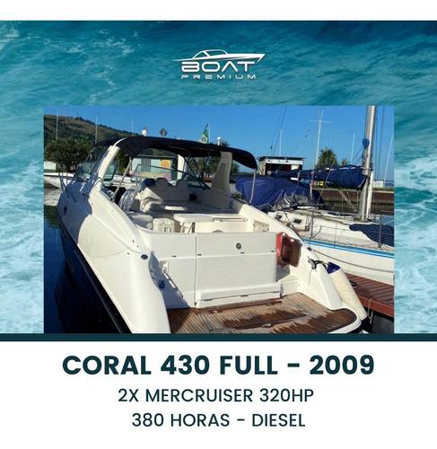 Imagem 1 de 15 de Coral 430 Full, 2009, 2x Mercruiser 320hp - Real - Runner