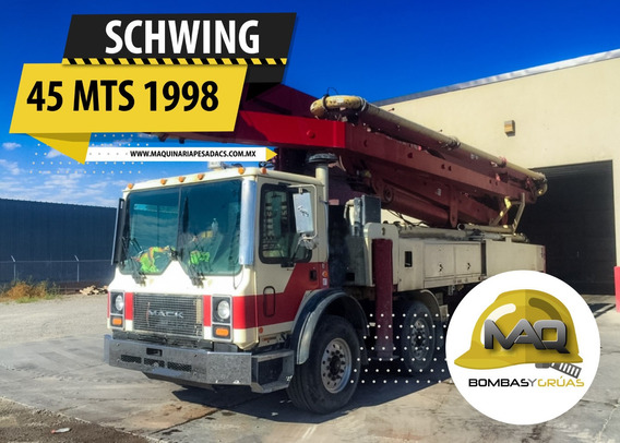 Bomba De Concreto Mack - Schwing 45mts 1998