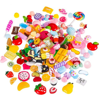 Pack De 10 Charms Frutas / Candy/ Sweets Para Slime Belgrano