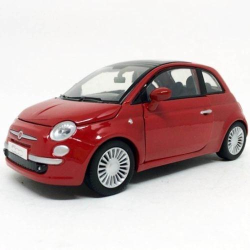 Miniatura Fiat Nuova 500 Vermelho 1:24 Motor Max 73373