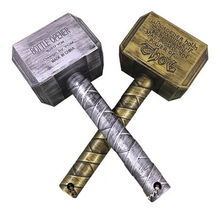 4 Destapadores Martillo De Thor Botellas Vengadores Mjolnir