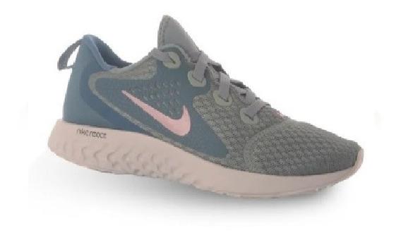 Zapatillas Nike Rebel React - Turquesa Y Rosa - Deportivas