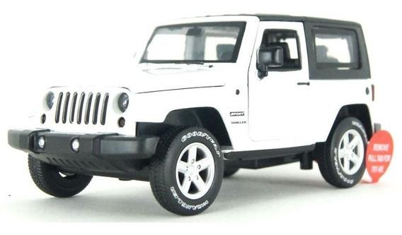 Carro Miniatura Coleção Jeep Wrangler Som E Luz Escala 1/32