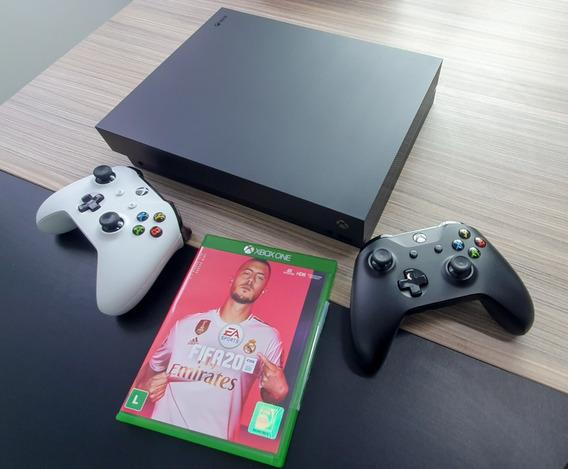 Xbox One X 4k 1tb + 2 Controles + Fifa 2020 - Pouco Usado