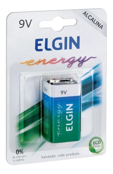 Bateria Pilha 9v Alcalina Energy 1 Unidade 82158 Elgin