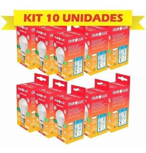 Kit 10 Lampadas Led 9w Superled Ouro Bivolt 6.500 K Ourolux