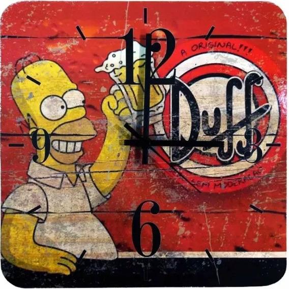 Relógio De Parede Homer Simpson Cerveja Duff