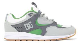 Tenis Dc Shoes Kalis Lite Imp Grey/white/green Original