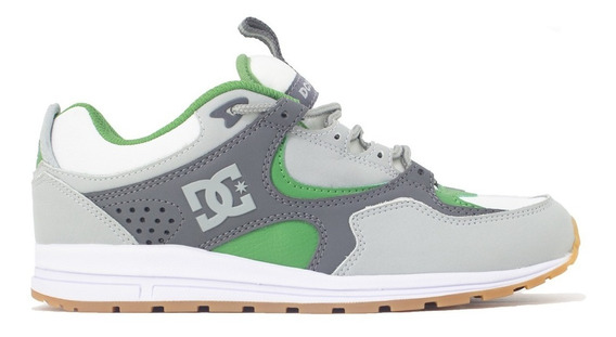 Tenis Dc Shoes Kalis Lite Imp Grey/white/green Original