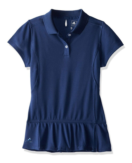 Oferta! Playera adidas Golf Advance Pique Tipo Polo De Niña