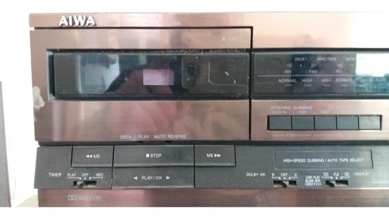 Tape Deck Aiwa Fx-w868 E Cd 5cds Dx-m90 Japan Leia