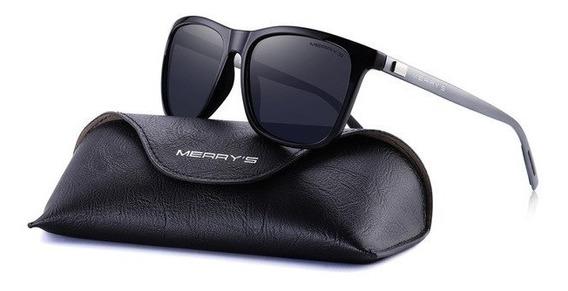 Óculos Sol Masculino Polarizado Quadrado Alumínio Original